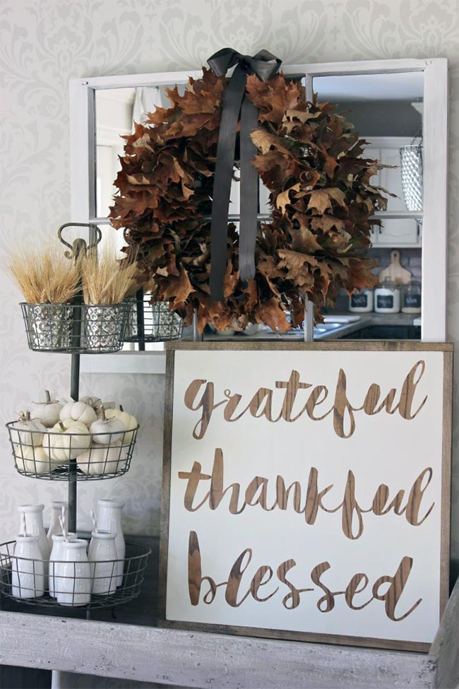 Grateful Thankful Blessed DIY Wood Sign