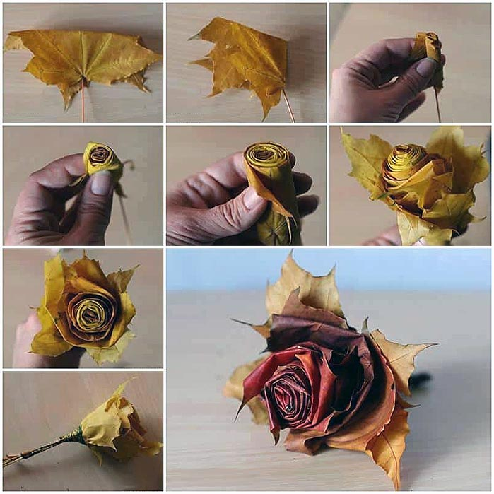 How to Make DIY Fallen Leaf Roses