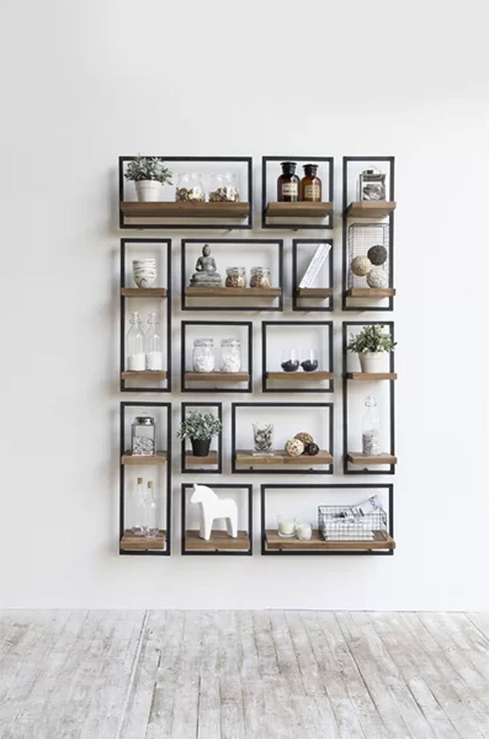 Langridge Metal Frame Wall Shelf