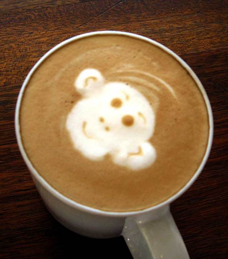 Monkey Face Latte Art
