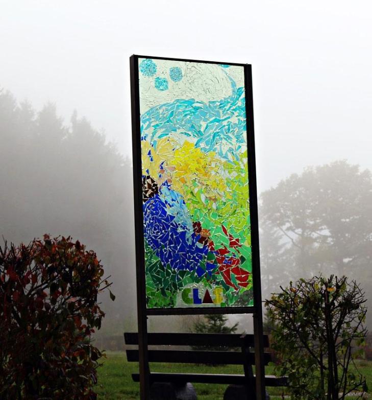 Mosaic Glass Sign