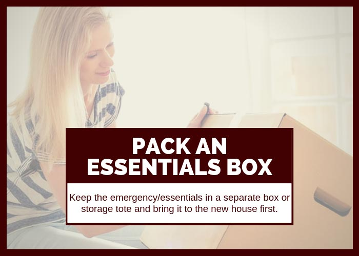 Moving Tip #14 Pack an Essentials Box