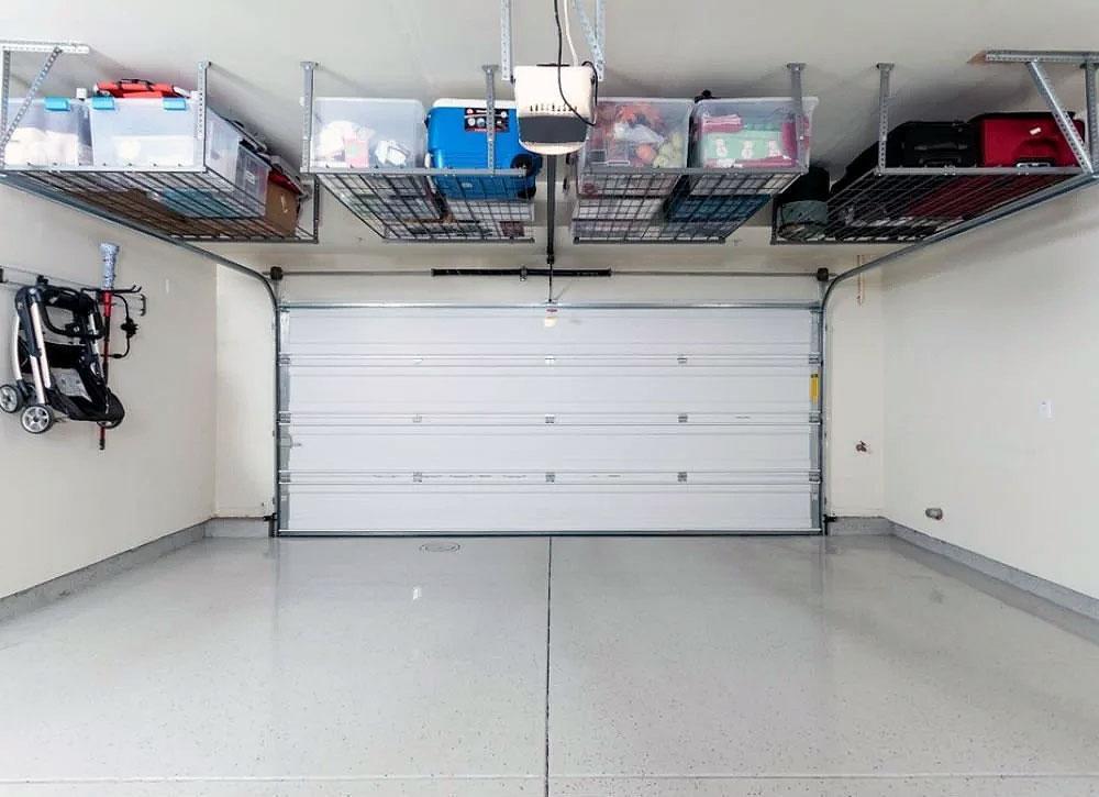 DIY Garage Hacks   Overhead Garage Storage Bins