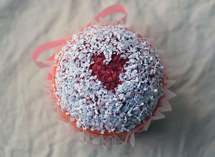 Paper Heart Cupcake