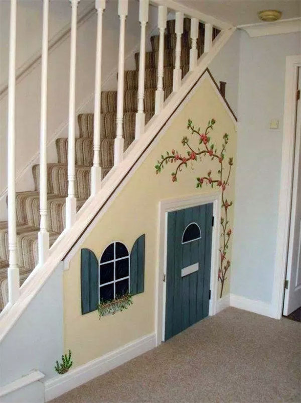 Quaint Under Stairs Dog House