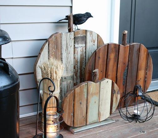 Reclaimed Wood DIY Pumpkins