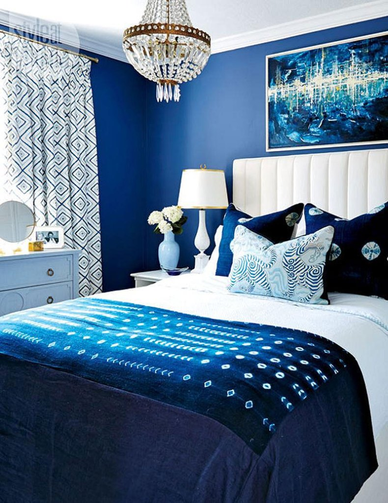 Romantic Blue Bedroom