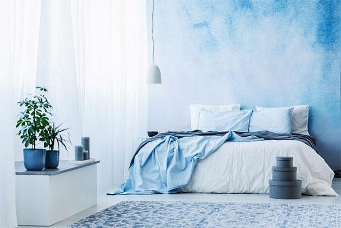 Serene Blue Bedroom