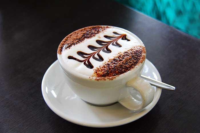 Simple Fern Latte Art