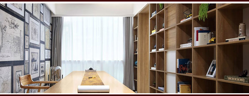 Unique Built-in Bookshelves