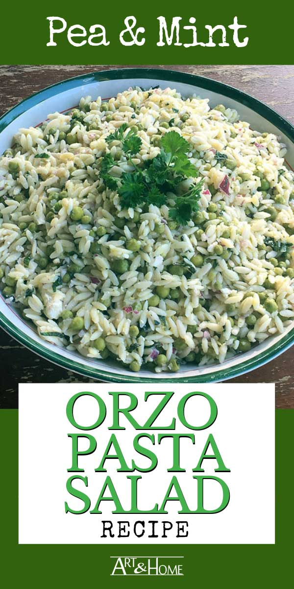 This bright and refreshing summer orzo pasta salad recipe is super easy to make.