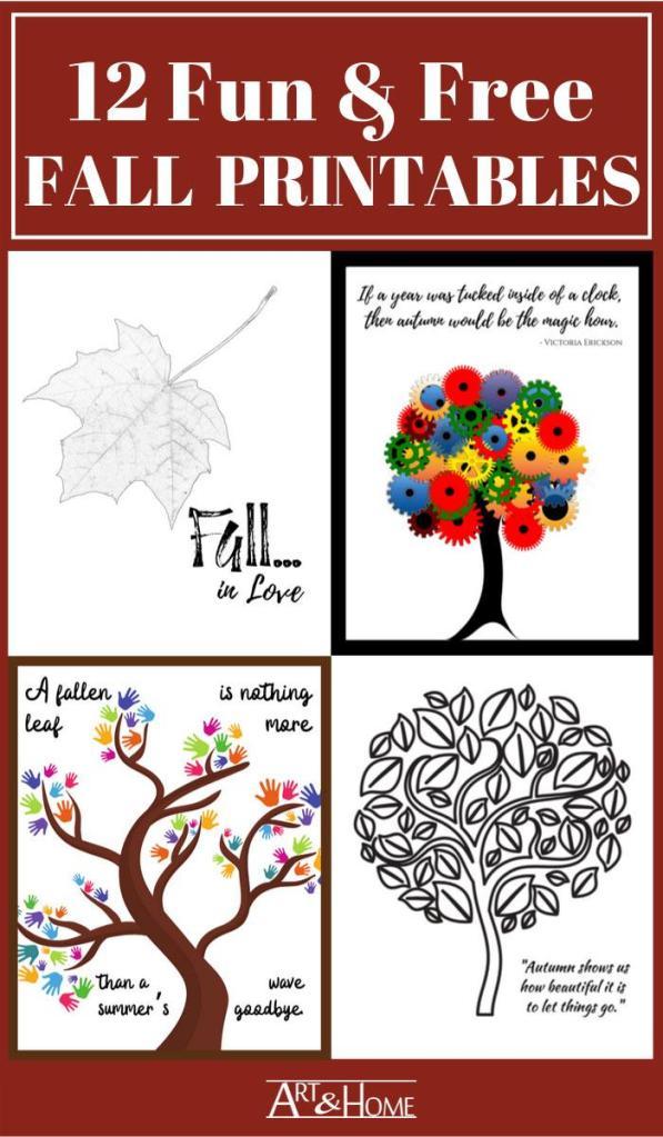 12 Fun & Free Fall Printables