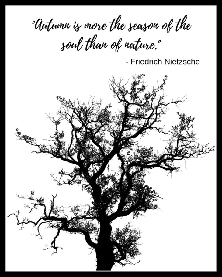Friedrich Nietzsche Autumn Quote Free Fall Printable