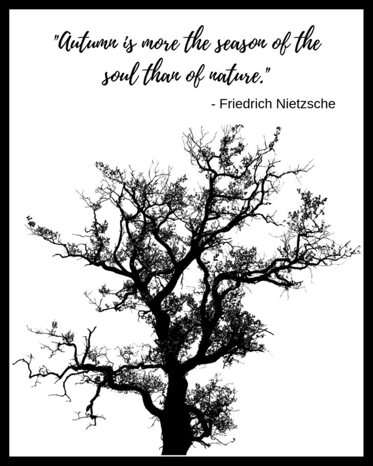 Friedrich Nietzsche Autumn Quote Free 8x10 Printable