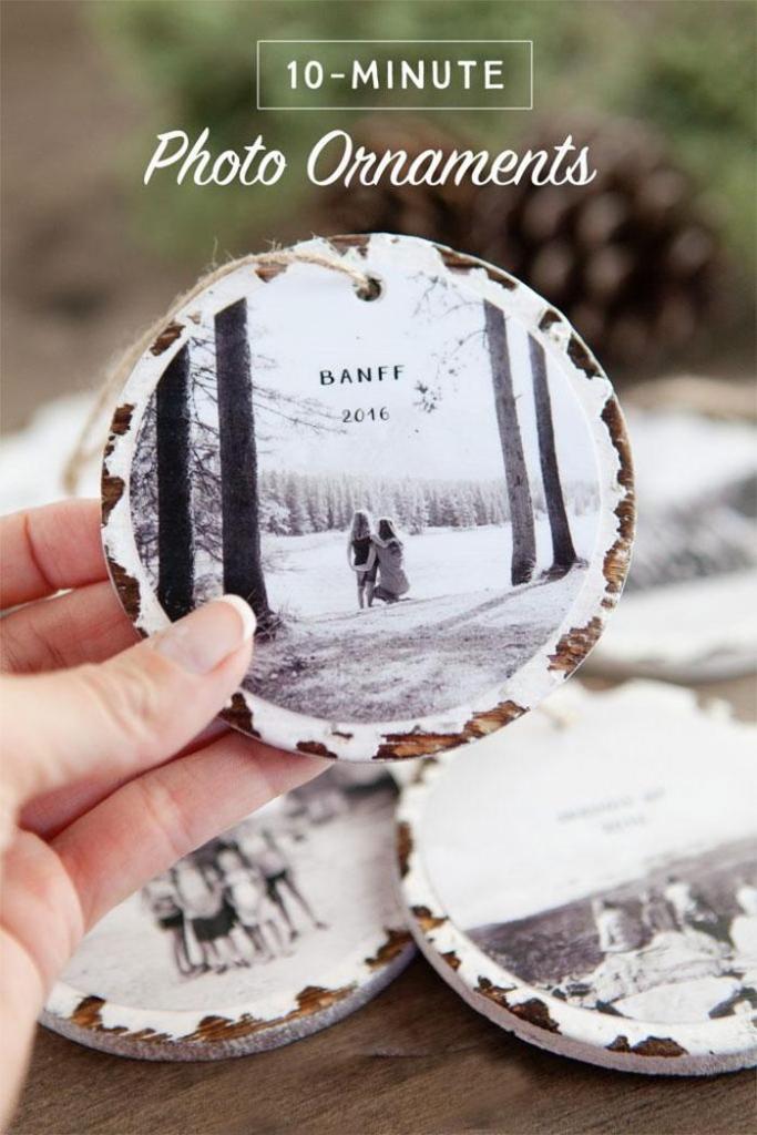 10-Minute DIY Photo Ornaments