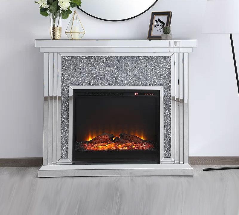 Aarav Mirrored Electric Fireplace