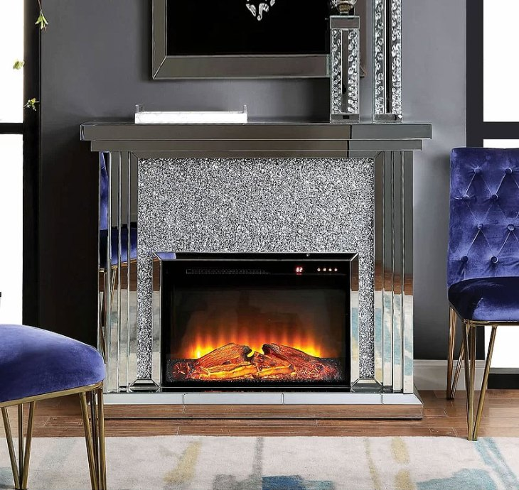 Albro Wood and Mirror Fireplace
