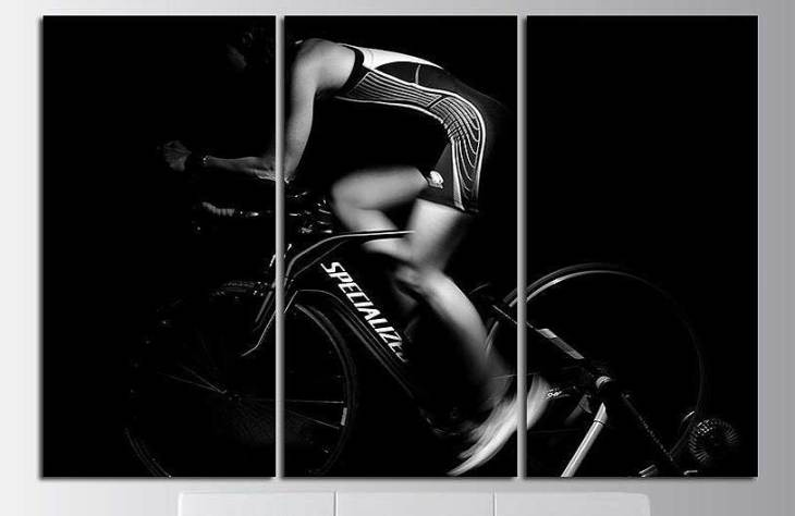 Biker In Motion Canvas Art Set