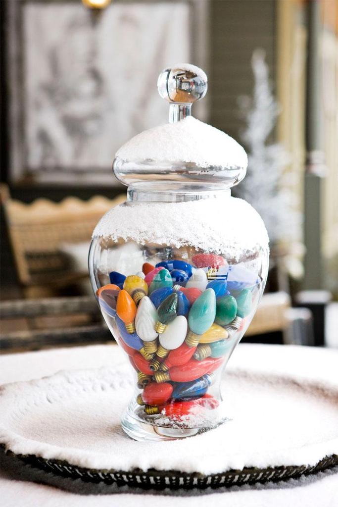 Christmas Bulb Apothecary Jar
