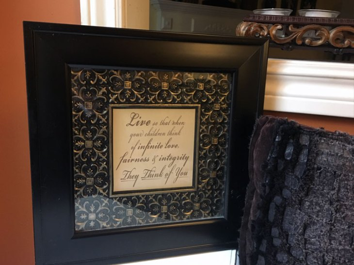 DIY Framed Quote