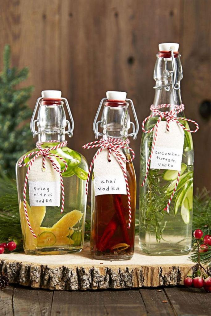 DIY Infused Vodkas DIY Christmas Gifts