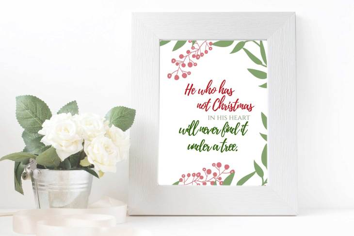 Framed Christmas Quote