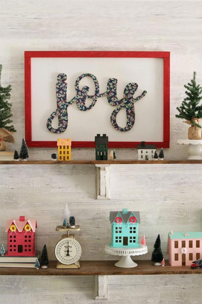 Joy DIY Framed Wall Art