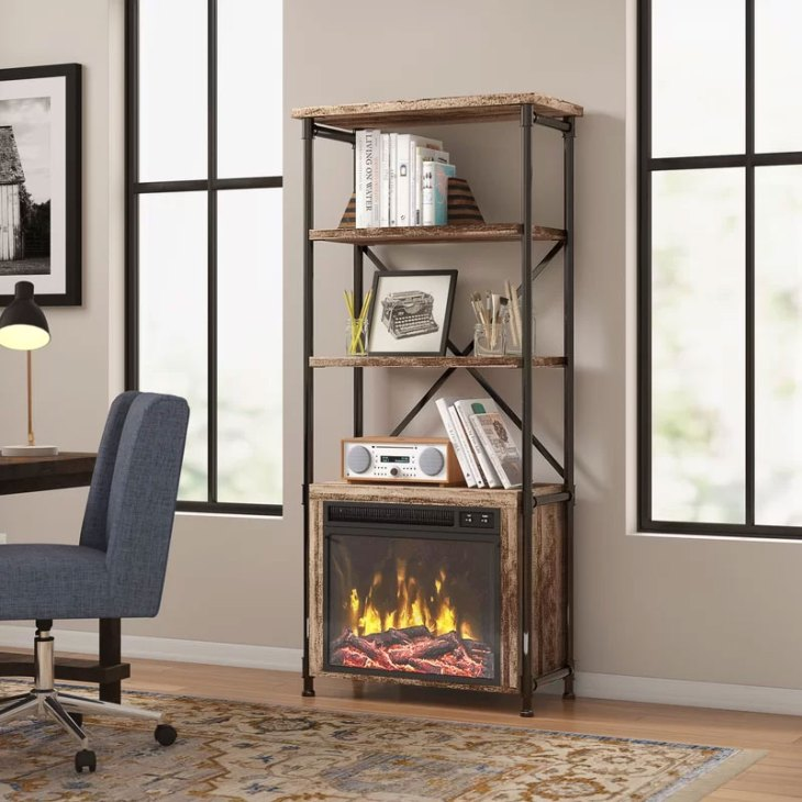 Millen Etagere Fireplace Bookcase