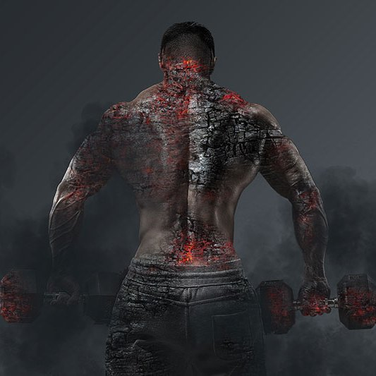 Muscle Man Burning Printable Fitness Art