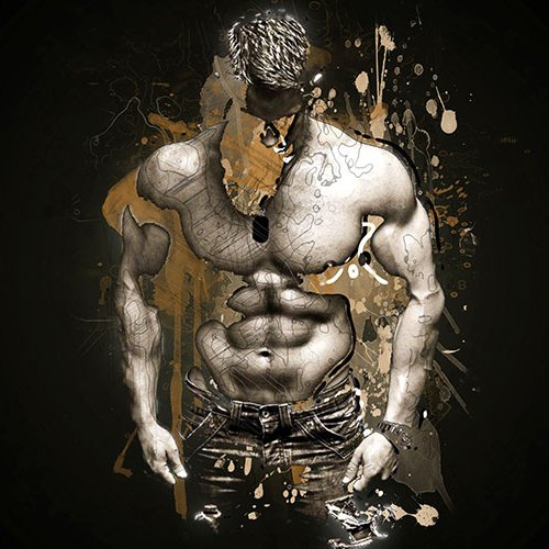 Muscle Man Printable Fitness Graphic Art