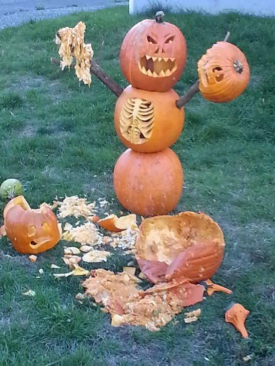 Pumpkin Zombie Attack