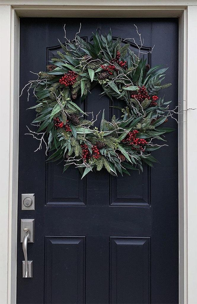 Rustic Bayleaf & Pine Christmas Wreath