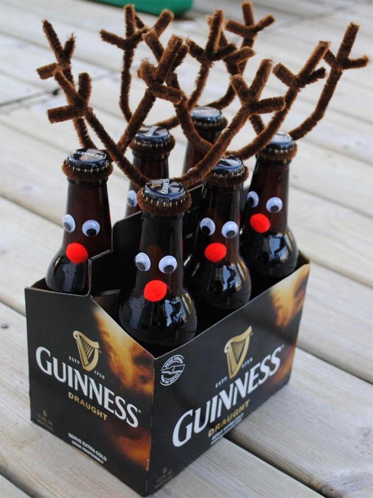 Santa's ReinBEER DIY Beer Bottle Reindeer