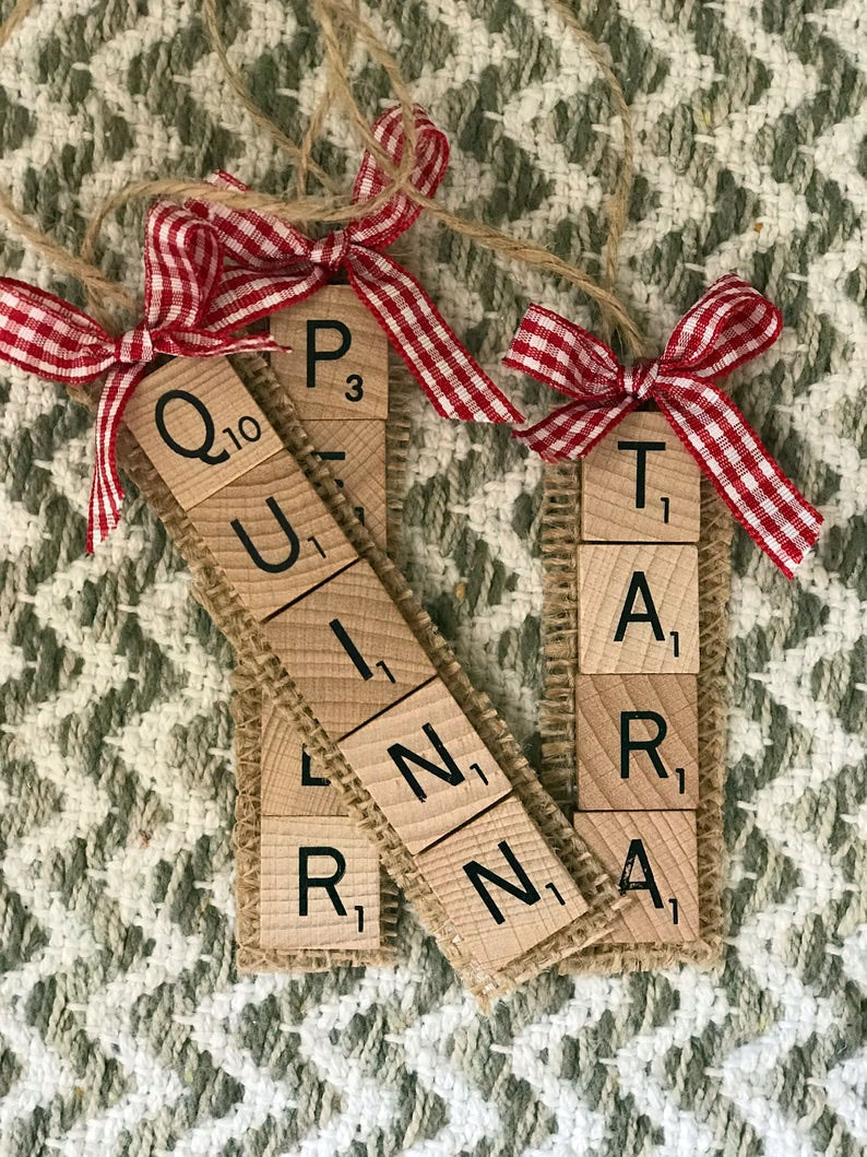 Scrabble Ornaments DIY Christmas Gifts