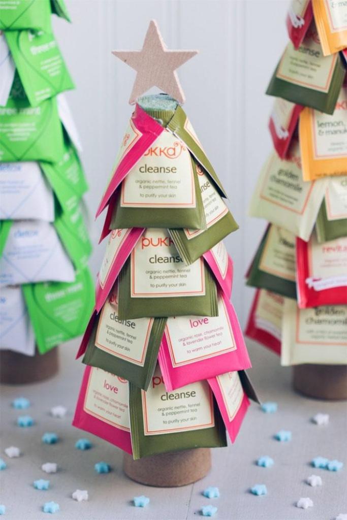 Tea Bag Christmas Trees