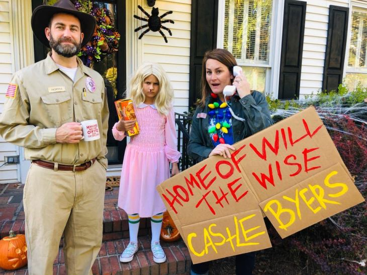 Netflix Stranger Things Family Halloween Costumes