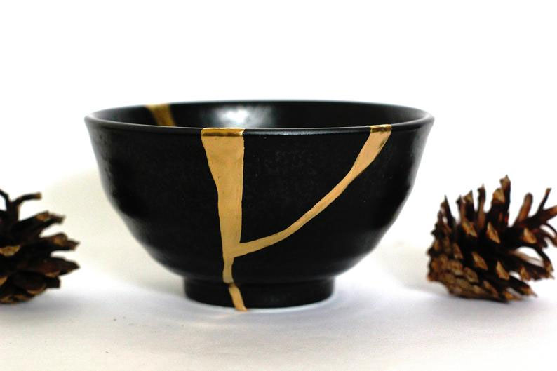 Black & Gold Kintsugi Omnipotence Bowl