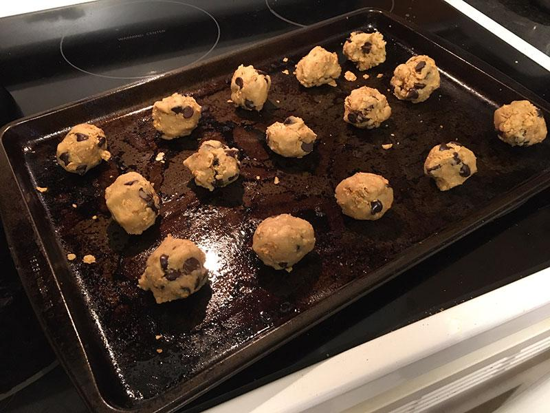 Baking up a batch of Mom's magical chocolate chip cookies