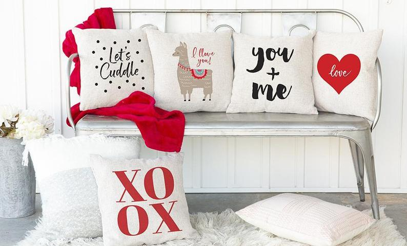 Love Collection Valentine's Throw Pillow Cover