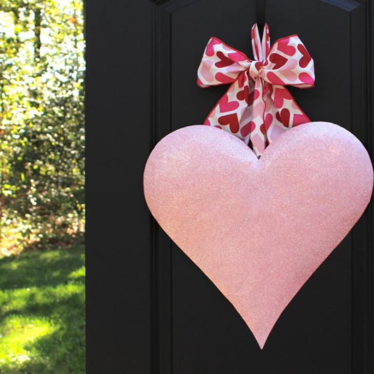 Metal Valentine's Day Glitter Heart