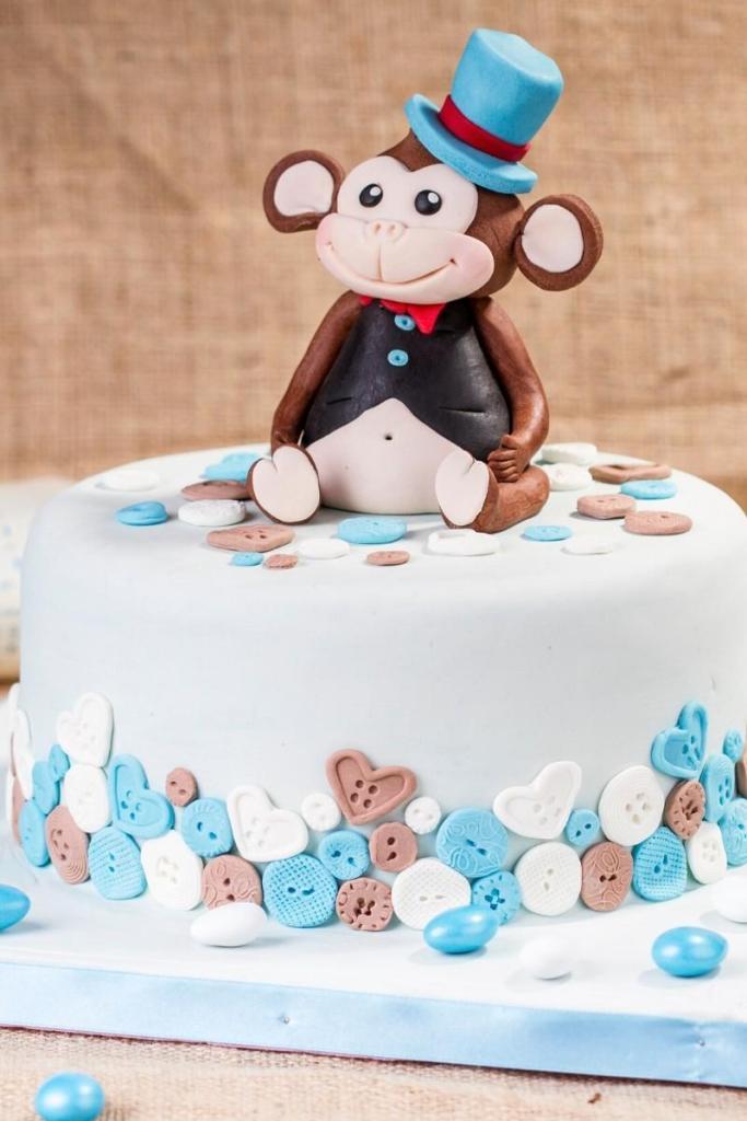 Birthday Cake Idea for Boys - Monkey