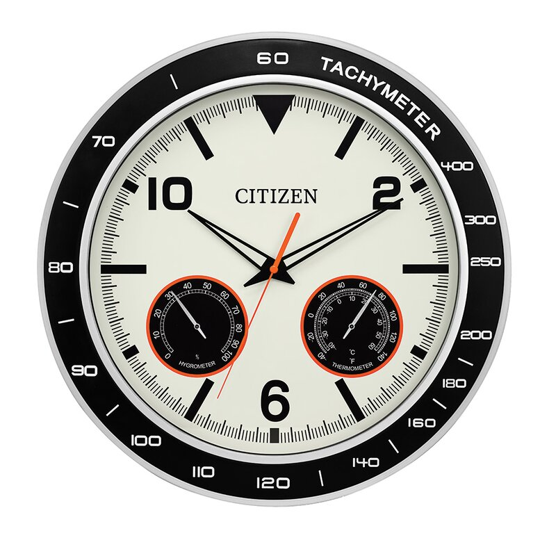 Black & White Citizens Outdoor Wall Clock