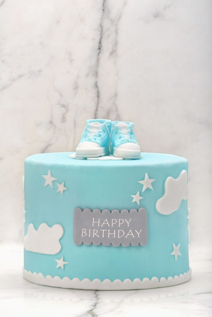 Blue Birthday Cakes - Blue Sky Cake
