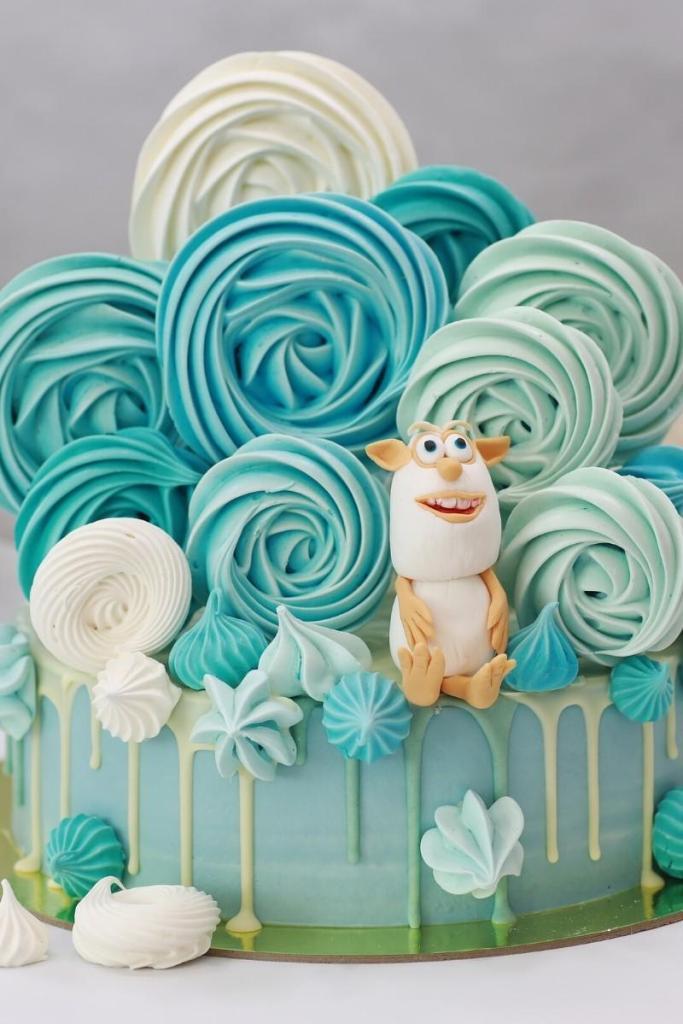 Blue Birthday Cakes - Blue Swirls