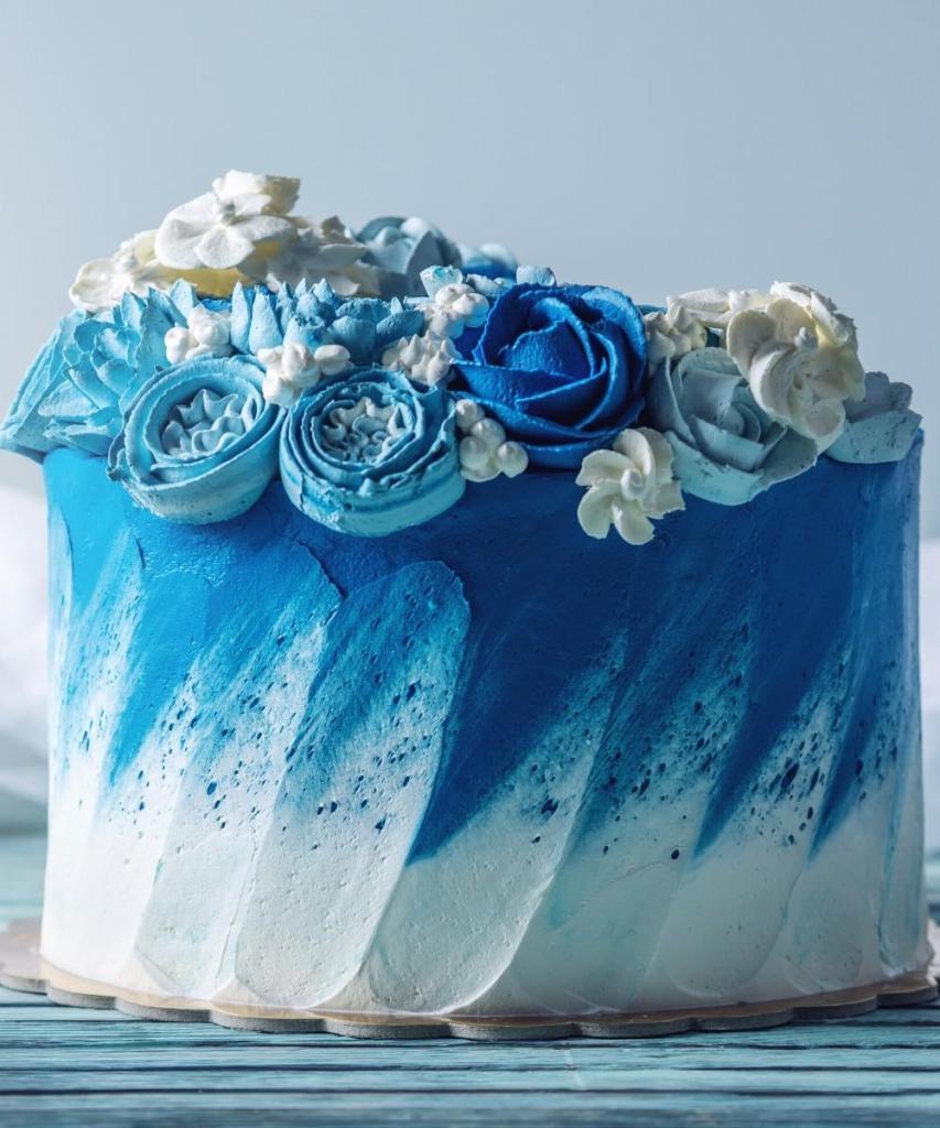 Blue Wave Birthday Cake