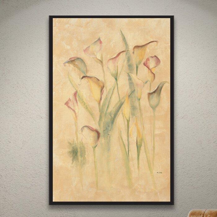 Blushing Calla Lilies Cheri Blum Wrapped Canvas Print