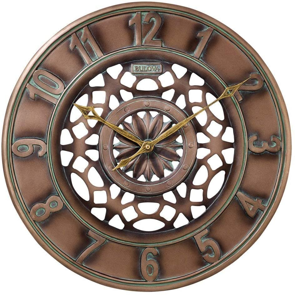 Bulova Gardner Outdoor Wall Clock