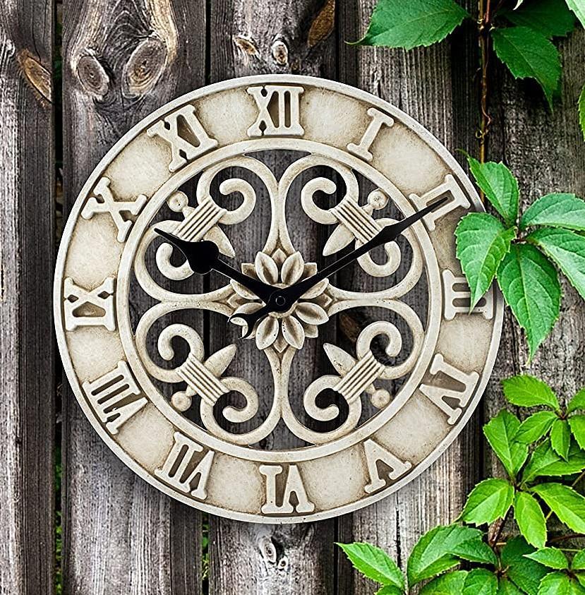 Cast Iron Indoor/Outdoor Wall Clock