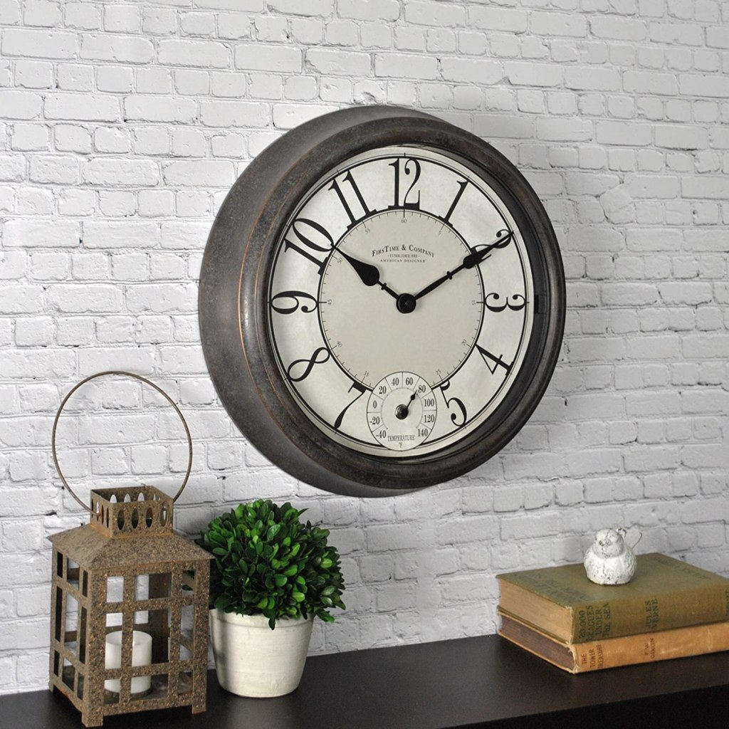 FirsTime & Co Isle Patina Outdoor Wall Clock Bronze