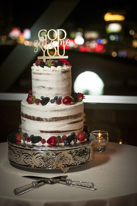 God Gave Me You Naked Wedding Cake